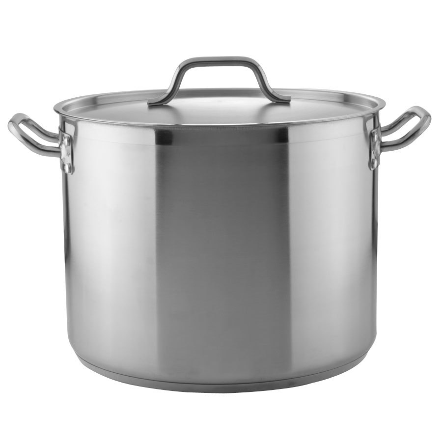 24 Qt Heavy Duty Stainless Steel Stock Pot With Cover