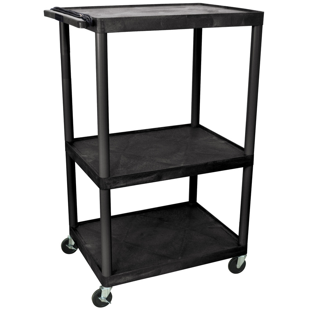 "Luxor LP54E 3 Shelf A/V Cart 32"" x 24"" x 54"""