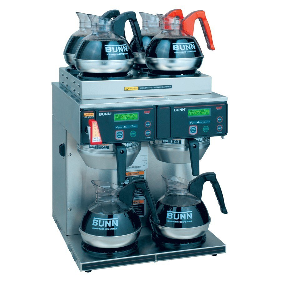 Bunn Axiom 4/2 Twin 12 Cup Automatic Coffee Brewer with 4 Upper and 2 Lower Warmers - 120/208-240V (Bunn 38700.0014) at Sears.com