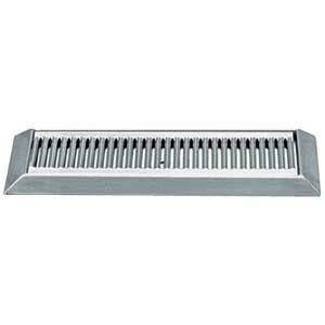 "Micro Matic DP-420LD 16"" Stainless Steel Bevel Edge Drip Tray with 1/2"" ID Drain"