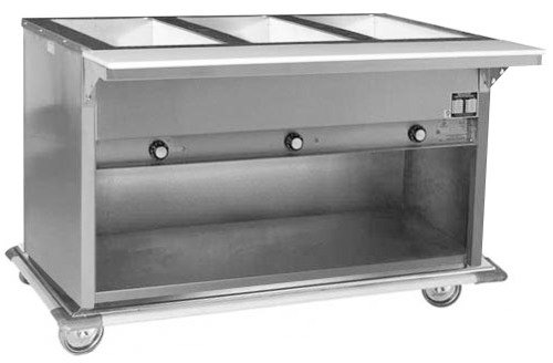 Eagle Group 240 Volts Eagle Group PHT3OB Portable Electric Hot Food Table with Enclosed Base - 3 Well - Open Well at Sears.com