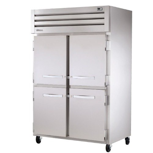 "True STG2R-4HS Specification Series 52"" Two Section Solid Half Door Reach In Refrigerator - 56 Cu. Ft."