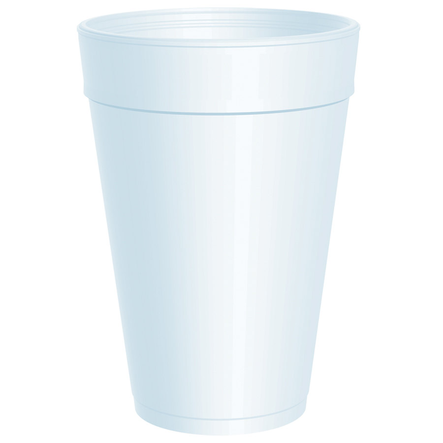 Dart 32TJ32 32 oz. White Foam Cup 25 / Pack