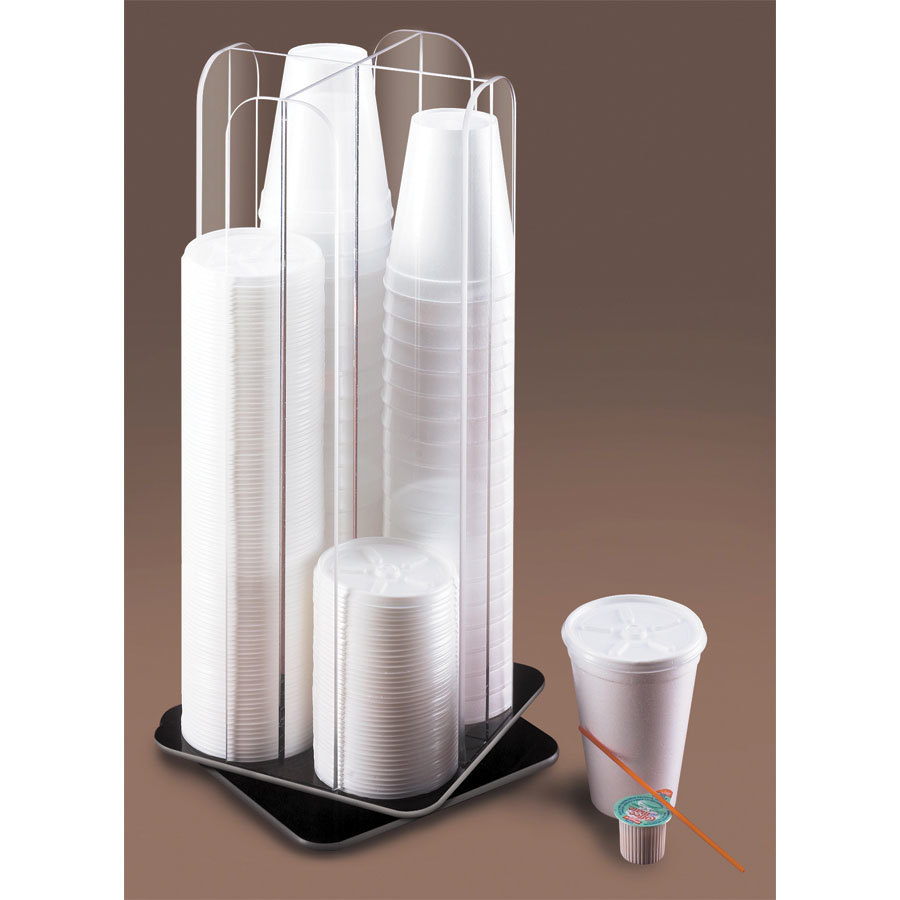 Cal Mil 378 Revolving Clear Acrylic Lid / Cup Organizer
