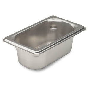 Vollrath 90922 Super Pan 3 Stainless Steel 1/9 Size Anti-Jam Steam Table Pan - 2 1/2 inch Deep