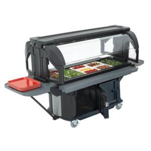 Cambro VBRUHD6110 Black 6' Versa Ultra Food / Salad Bar with Storage and Heavy-Duty Casters at Sears.com