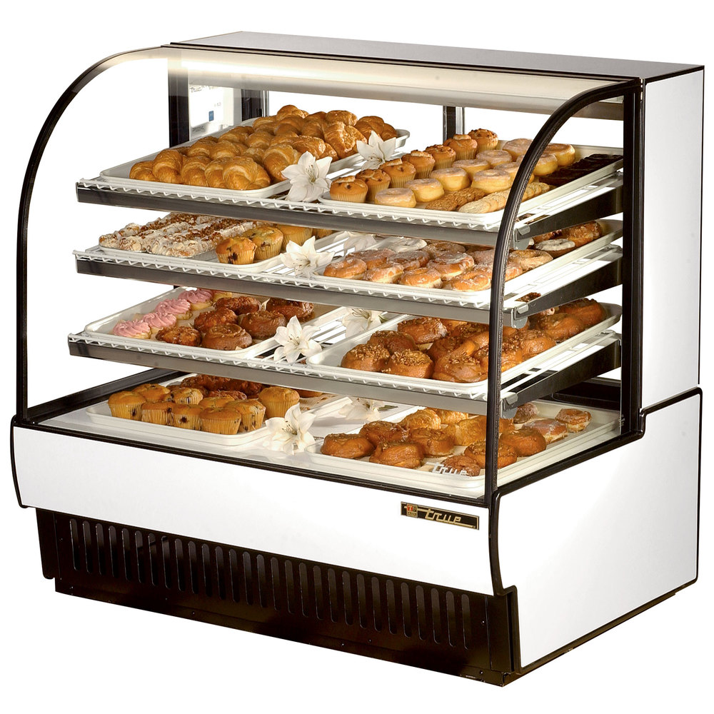 "True TCGD-50 50"" White Dry Bakery Display Case - 23.8 Cu. Ft."