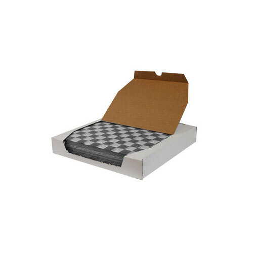 12 inch x 12 inch Choice Black Check Deli Sandwich Wrap Paper - 5000 / Case