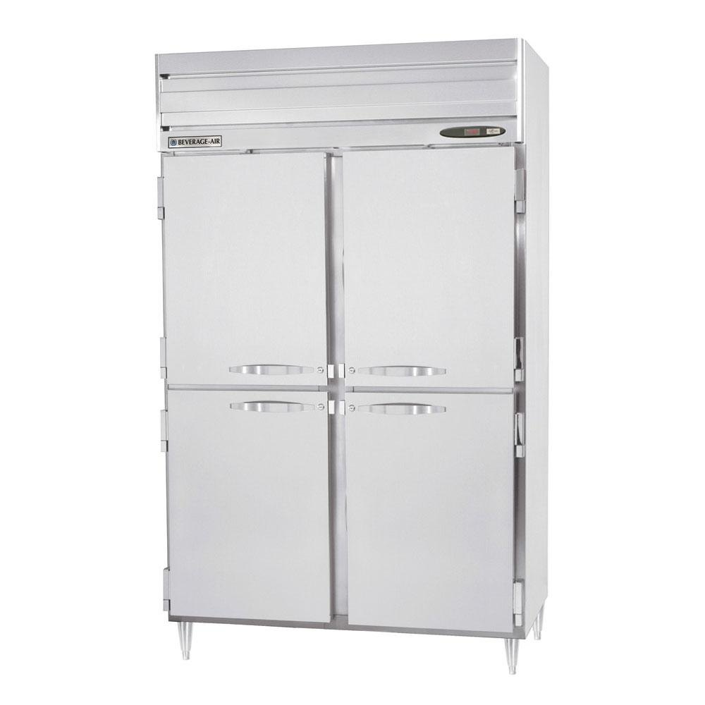 Beverage Air PRD2-1AHS 2 Section Solid Half Door Pass-Through Refrigerator - 50 cu. ft., Stainless Steel