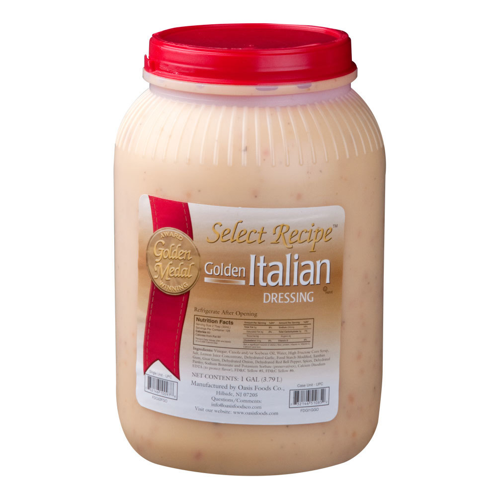Golden Italian Dressing (4) 1 Gallon Containers / Case