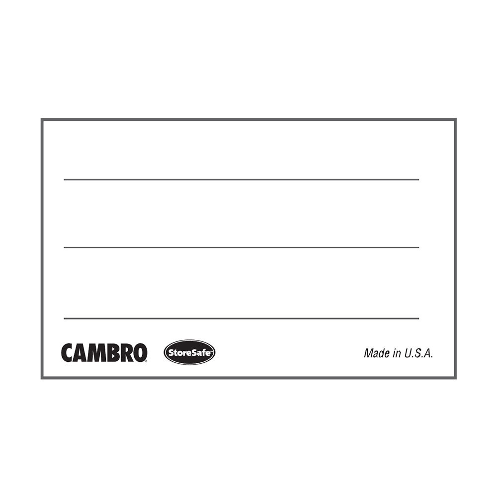 Cambro 1252SLINB250 1 1/4 inch x 2 inch StoreSafe Dissolvable Product Label 250 / Roll - Blank - 24 Rolls / Case