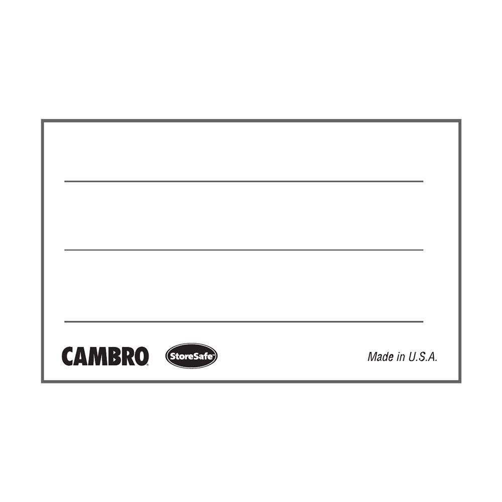 "Cambro 1252SLINB250 1 1/4"" X 2"" StoreSafe Dissolvable"