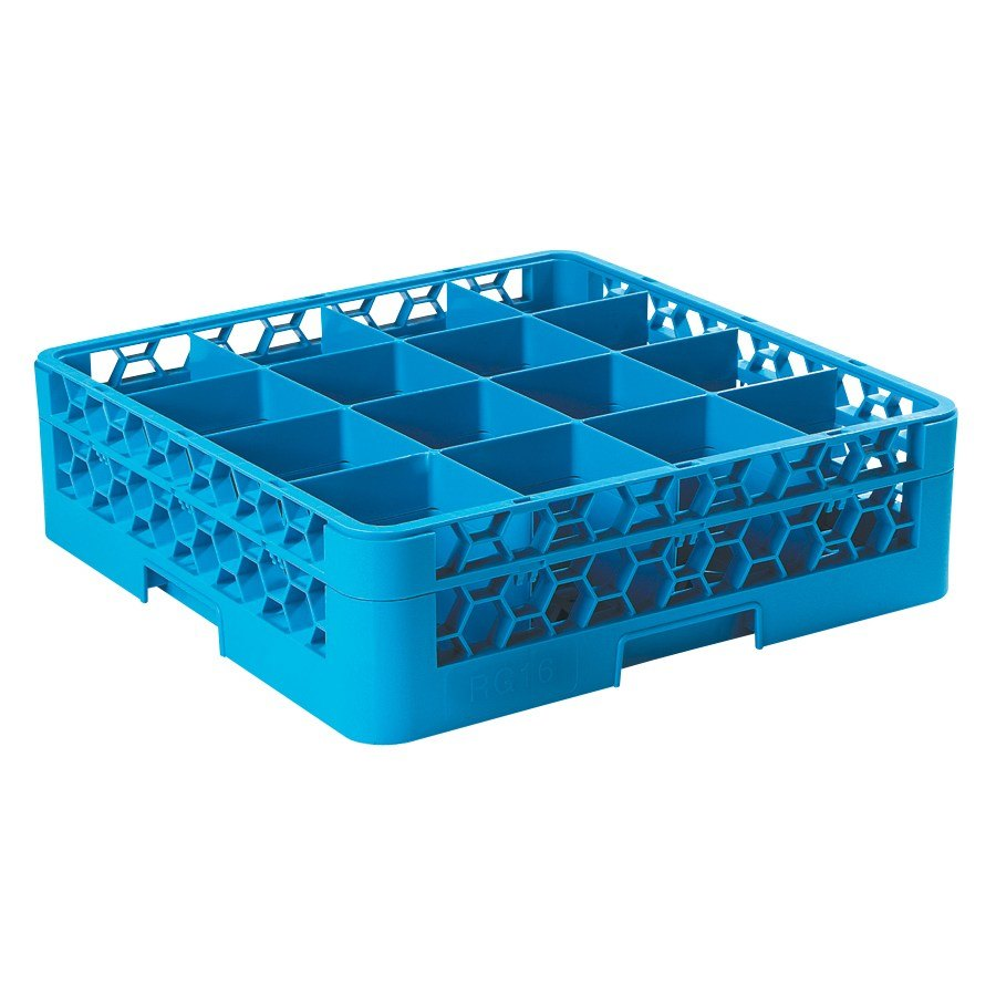 Carlisle RG16-114 16 Compartment OptiClean Glass Rack with One Extender