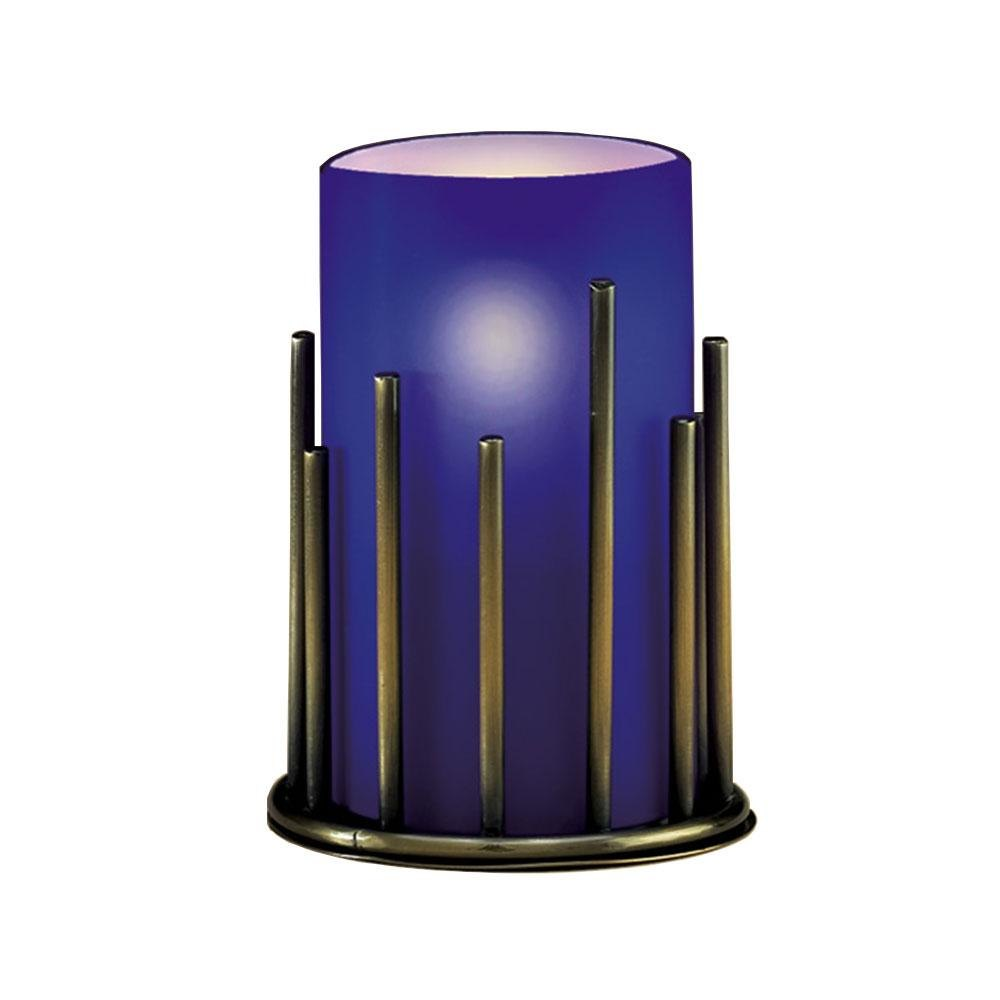 Sterno Products 85296 Table Lamp Blue Cylinder Globe