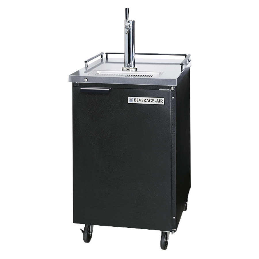 Beverage Air (Bev Air) BM23-B Black Beer Dispenser 24 inch - 1 Keg Kegerator