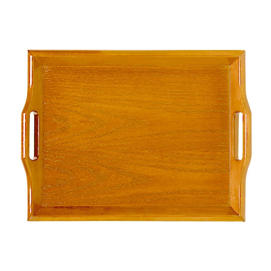 "GET RST-1814-N 18"" x 14"" Hardwood Room Service Tray - Natural"
