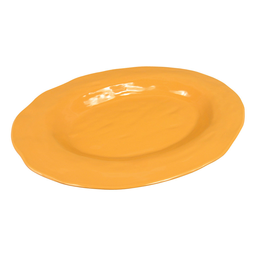 "GET ML-137-TY New Yorker 17 3/4"" x 13"" Oval Platter - Tropical Yellow"