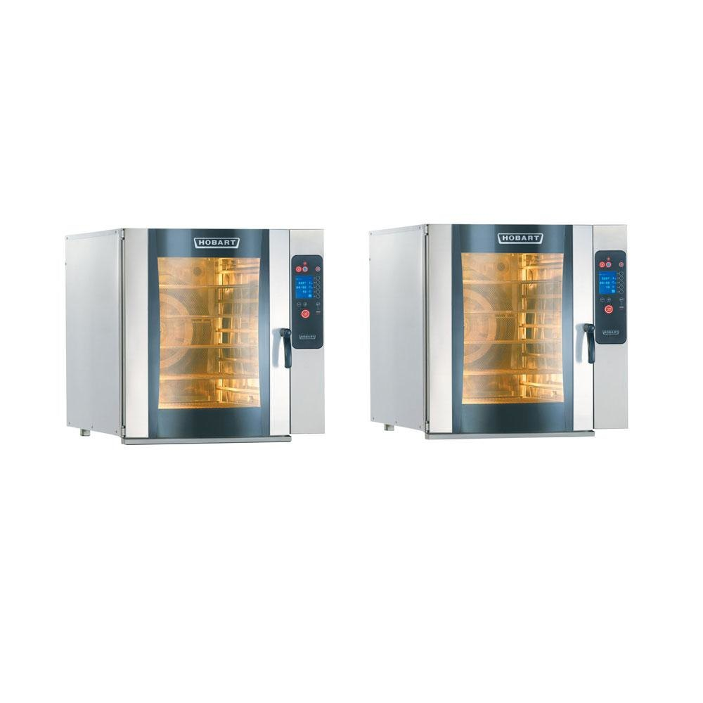 Hobart CE10FD-1 / CE10FD-1 (2) Electric Full Size Combi Ovens - Stacked