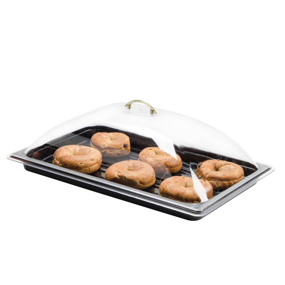 "21 1/2"" x 13 1/2"" x 5"" Full-Size Polycarbonate Dome Display Cover"