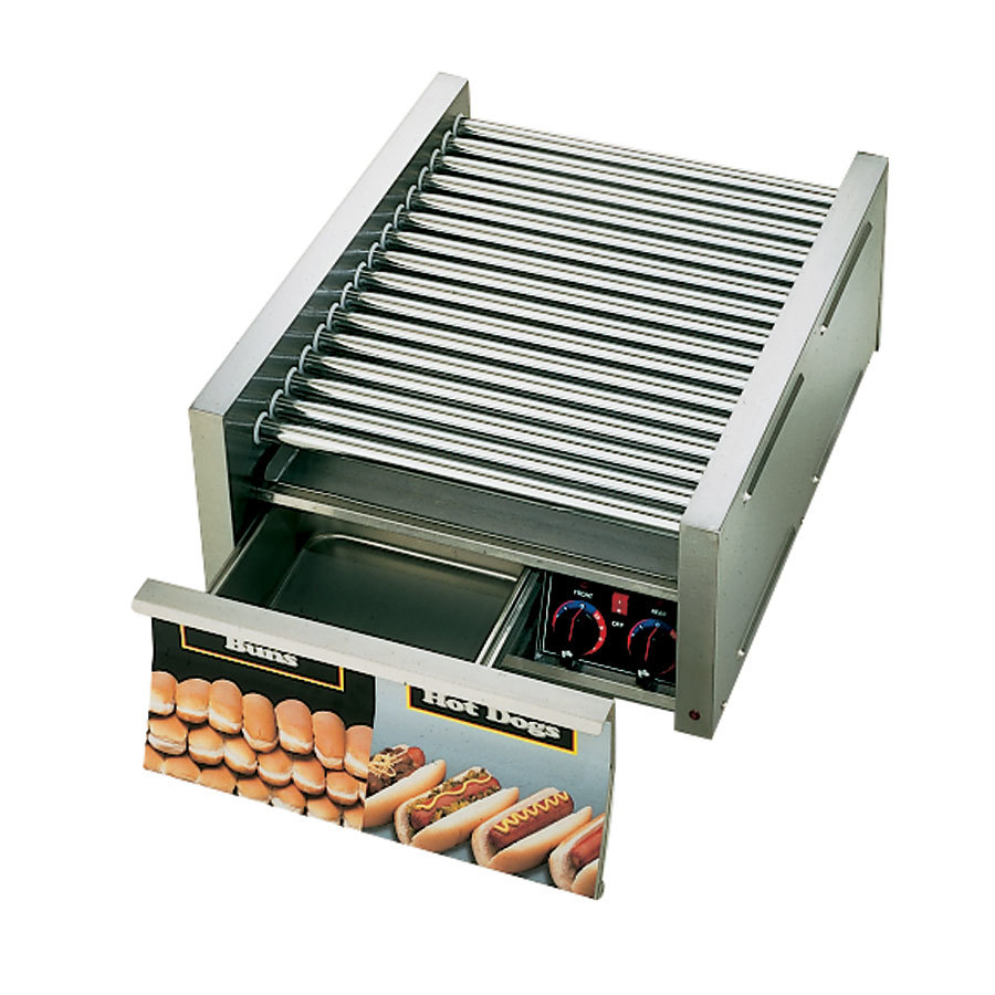 Star 208/240 Volt Star Grill Max 75SCBD 75 Hot Dog Roller Grill with Duratec Non-Stick Rollers and Bun Drawer at Sears.com