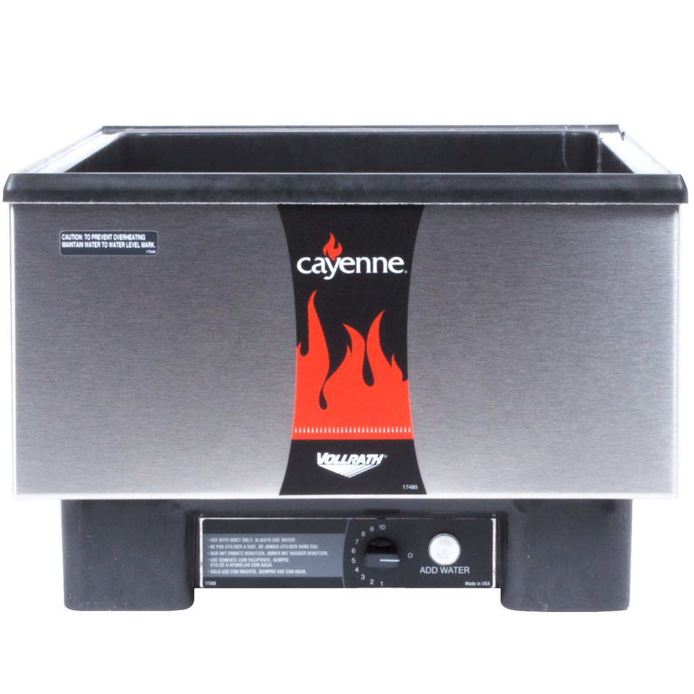 Vollrath 71001 Cayenne Full Size Countertop Warmer with Stainless Steel Exterior - 120V, 700W