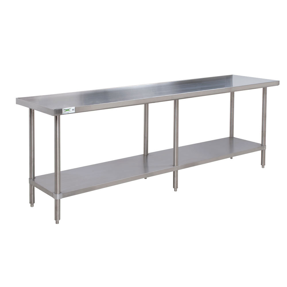 Regency 16 Gauge All Stainless Steel Commercial Work Table - 30 inch x 96 inch with Undershelf