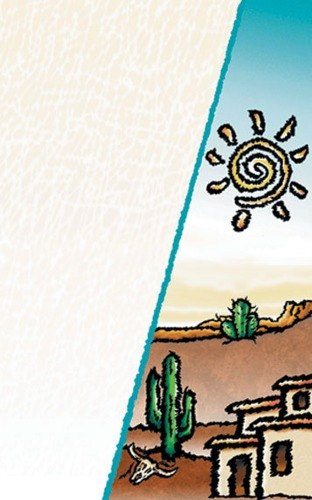 "8 1/2"" x 11"" Menu Paper Cover - Southwest Themed Desert Design - 100/Pack"