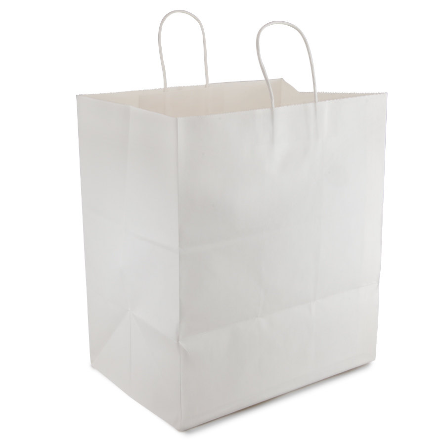 """Super Royal White Paper Shopping Bag with Handles 14"""" x 10 ..."""