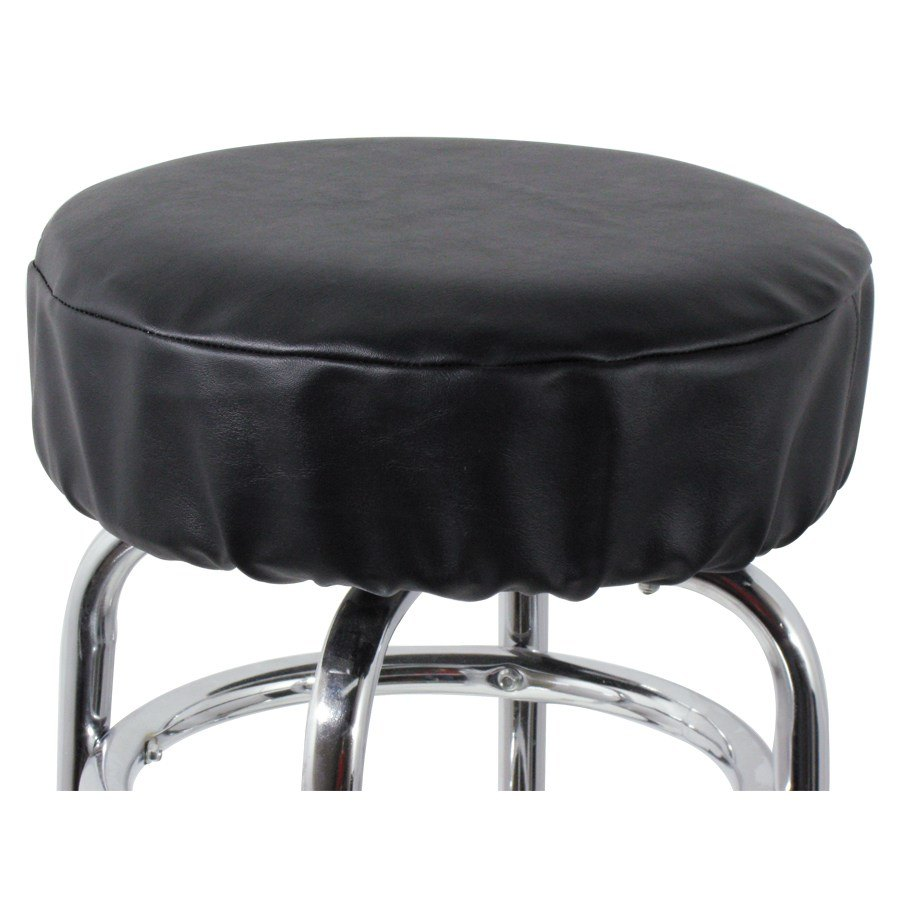 14 Quot Black Vinyl Bar Stool Seat Cover