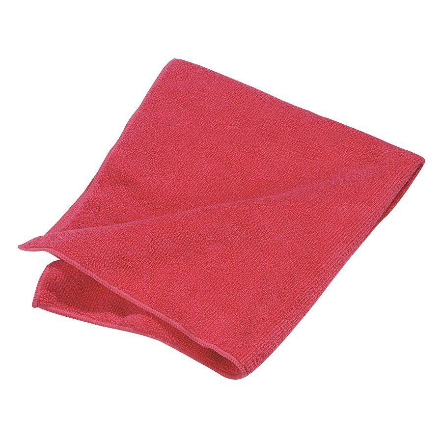 "Carlisle 3633405 16"" x 16"" Red Terry Microfiber Cleaning Cloth - 12/Case"