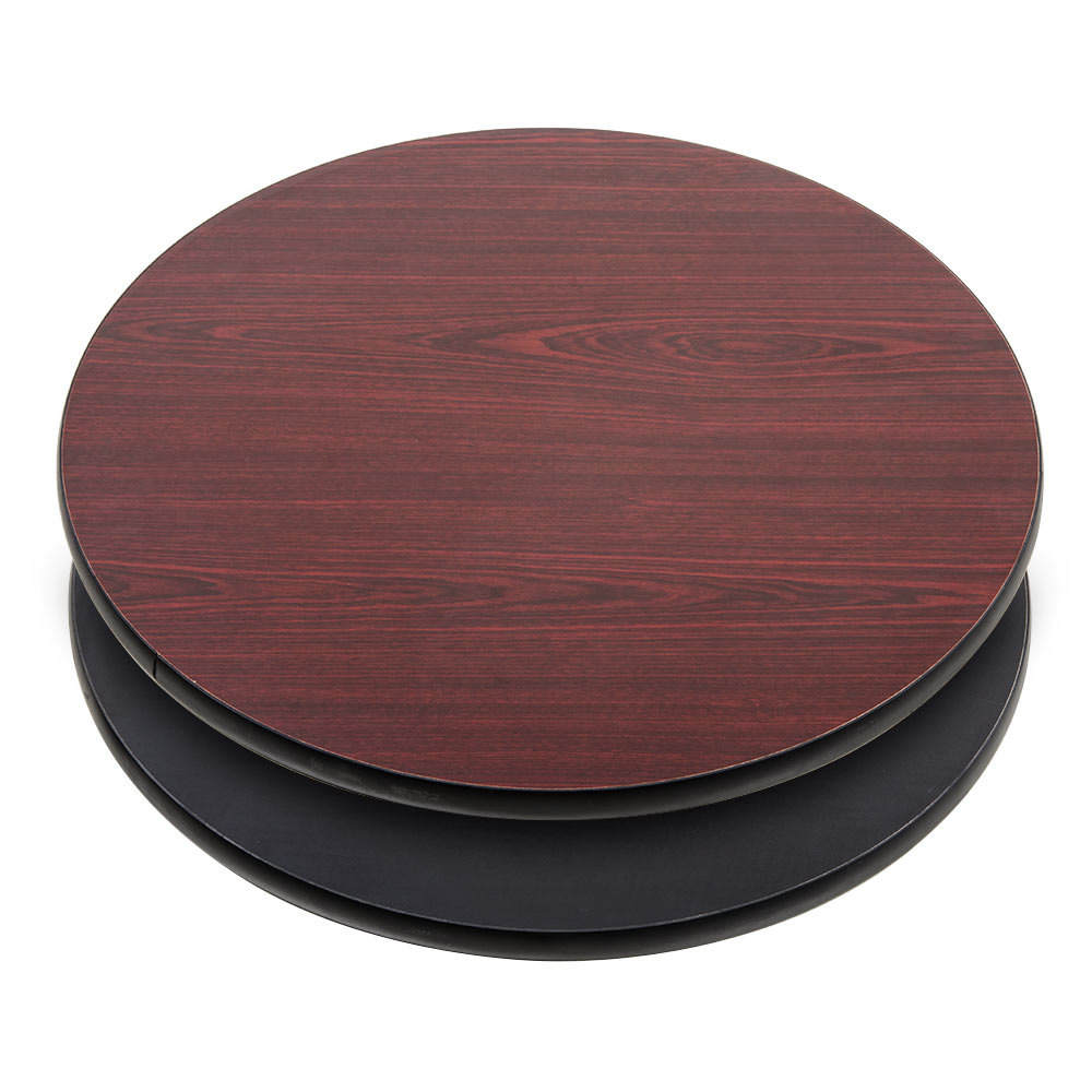 Lancaster table seating 30 laminated round table top for Circle table