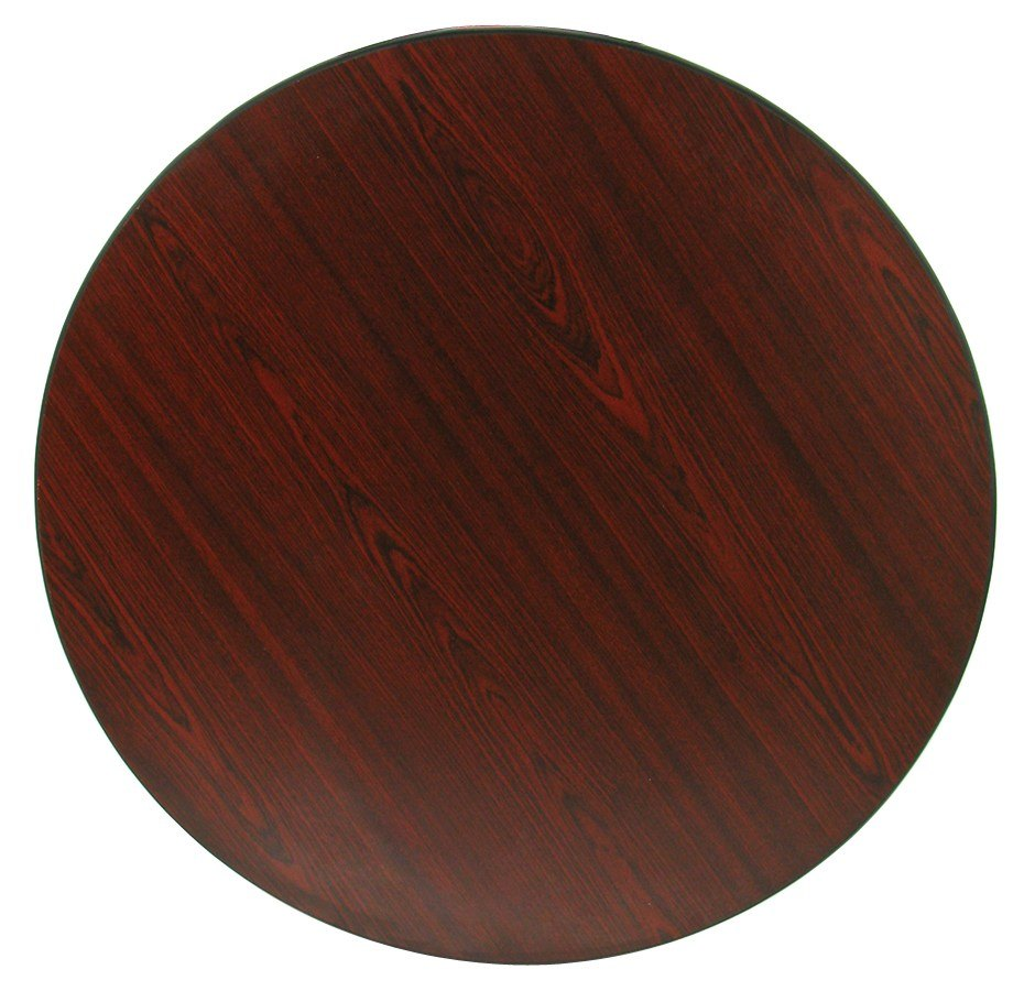 30 inch Laminated Round Table Top Reversible Cherry / Black