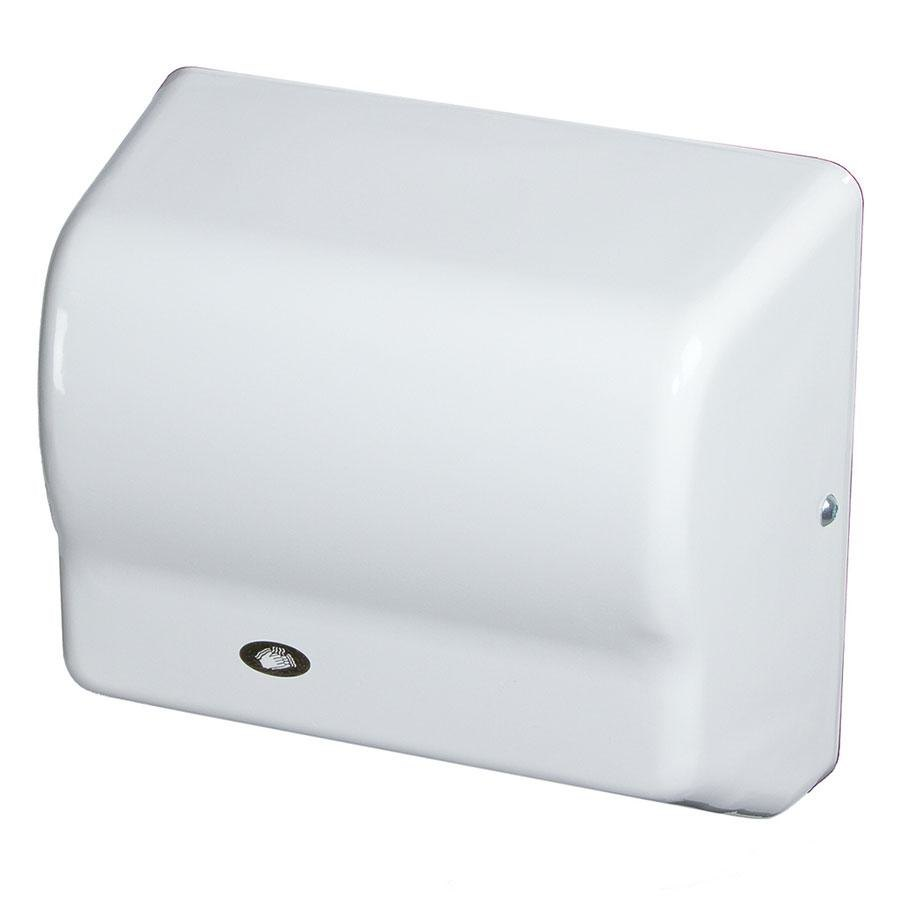 American Dryer GX3 GLOBAL Automatic Hand Dryer with White ABS Cover - 208-240V, 1500W