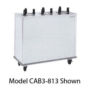 "Delfield CAB3-725ET Even Temp Mobile Enclosed Three Stack Heated Dish Dispenser / Warmer for 6 1/2"" to 7 1/4"" Dishes - 208V"