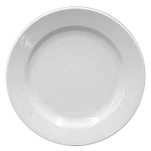 Homer Laughlin Rolled Edge 9 inch Creamy White / Off White China Plate 24 / Case