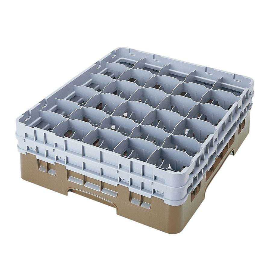 "Cambro 30S800184 Beige Camrack 30 Compartment 8 1/2"" Glass Rack"