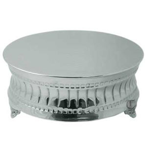 Tabletop Classics AC-9129 Nickel Plated Round Cake Stand - 16 inch