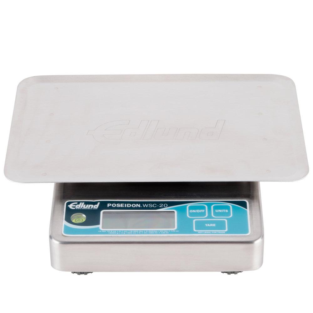 edlund wsc 20 op poseidon 20 lb waterproof digital portion scale rh webstaurantstore com