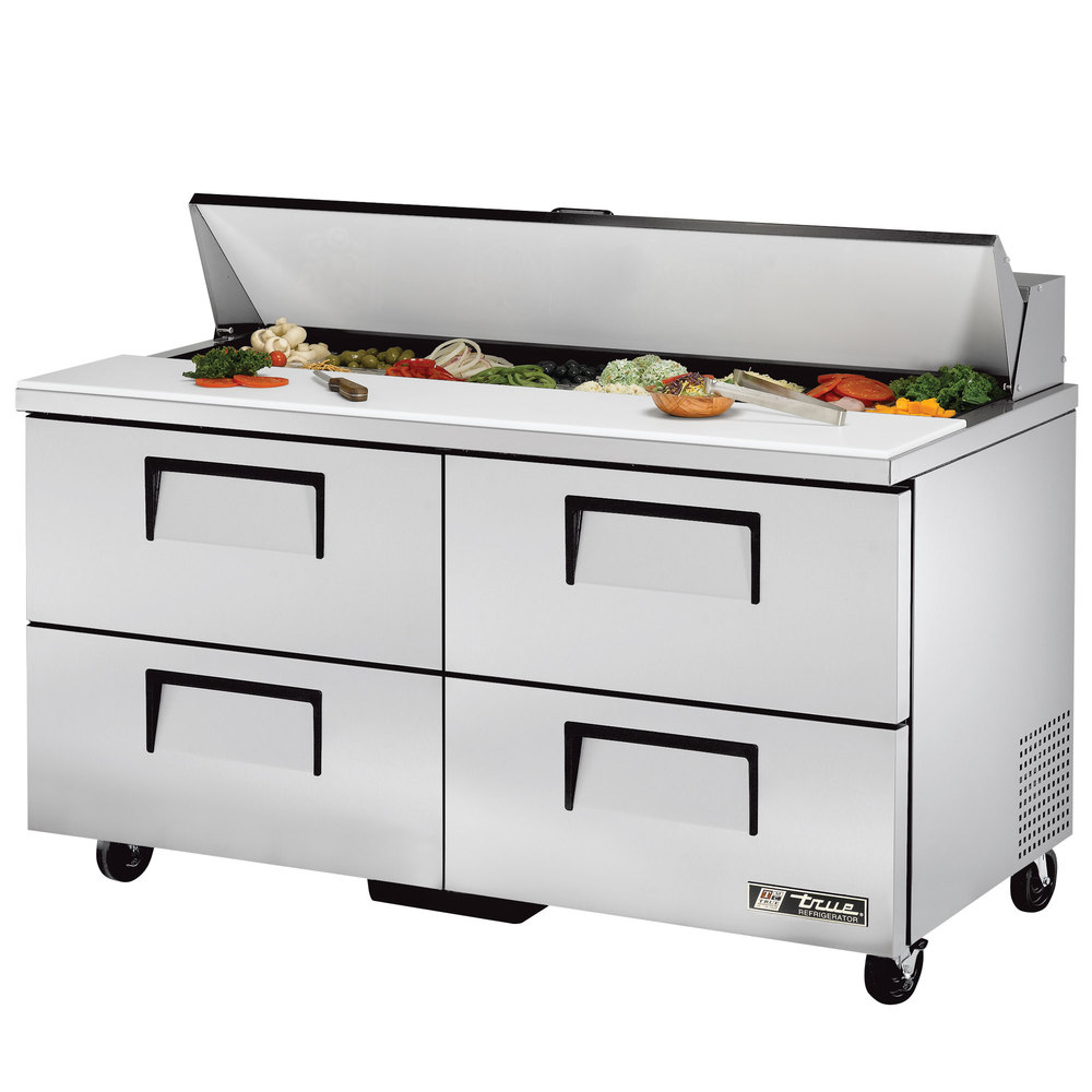 True TSSUD Drawer Refrigerated Sandwich Prep Table - True refrigerated prep table