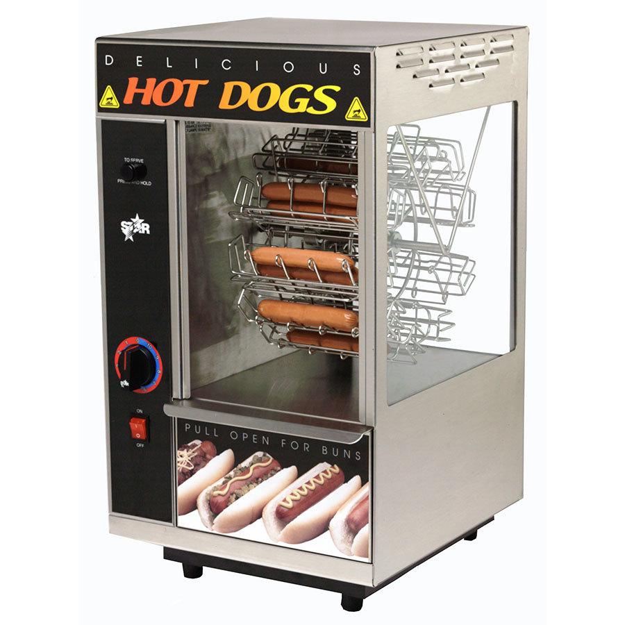 star 175cba broil o dog hot dog broiler with bun warmer cradle wheel. Black Bedroom Furniture Sets. Home Design Ideas