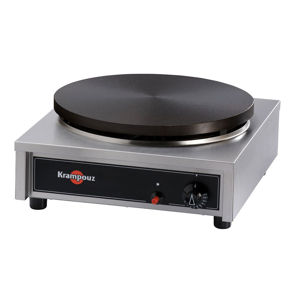 Krampouz CGCID4 17 inch x 18 inch Gas Cast Iron Crepe Maker - 24,000 BTU