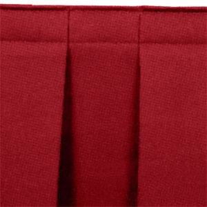 "National Public Seating SB8 Burgundy Box Stage Skirt for 8"" Stage"