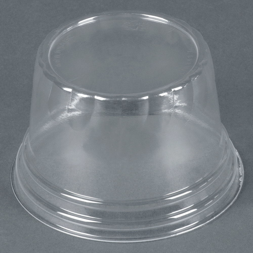 Plastic Cups With Lids : Wna comet lhcdpet oz clear plastic dome lid for