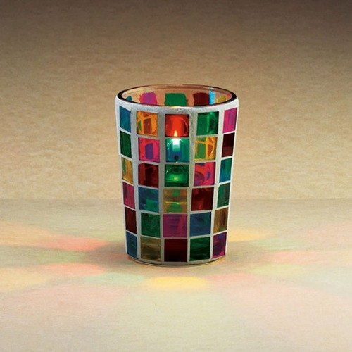 "Sterno Products 80280 3 1/4"" Mini Mosaic Liquid Candle Holder"