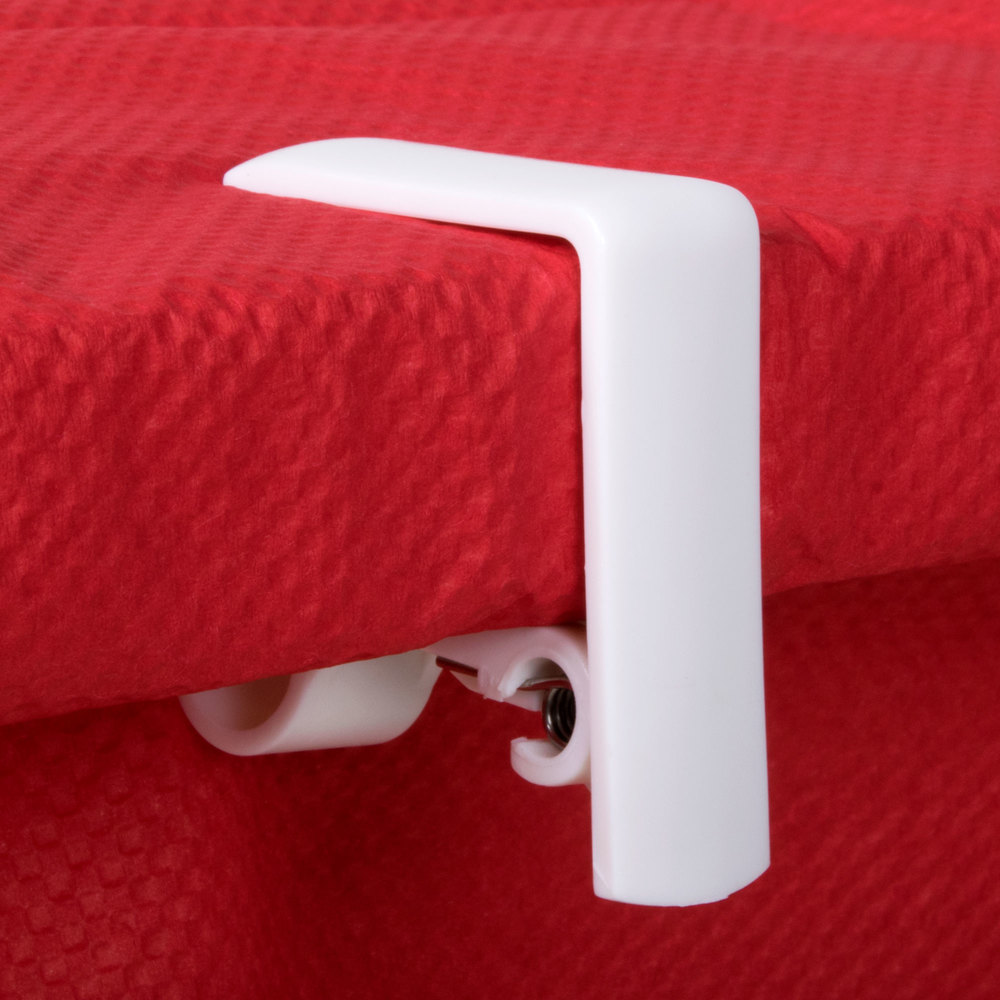 Spring Loaded Adjustable Plastic Tablecloth Clip 4/Pack
