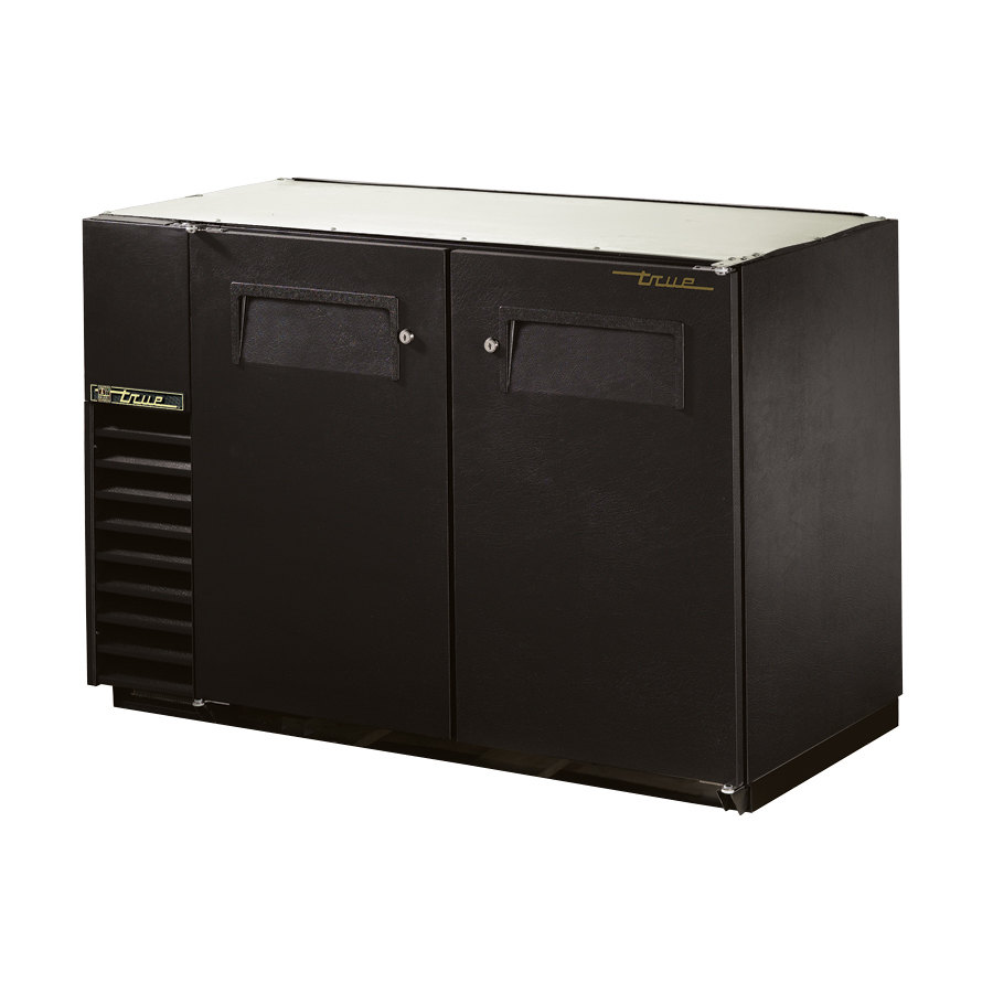 "True Refrigeration True TBB-24GAL-48 49"" Under Bar Cooler with Galvanized Top and Solid Doors - 24"" Deep at Sears.com"