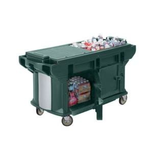 Cambro VBRUT5519 Kentucky Green 5? Versa Ultra Work Table with Storage and Standard Casters at Sears.com