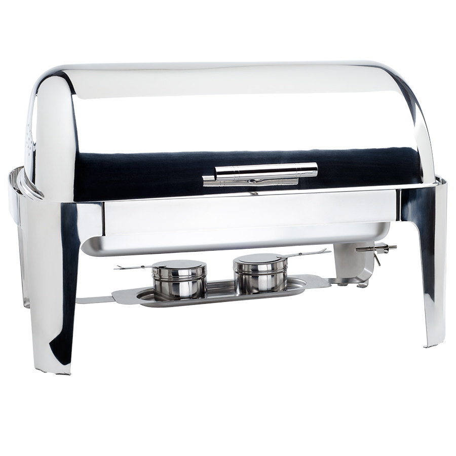 8 Qt. Supreme Full Size Roll Top Chrome Trim Chafer