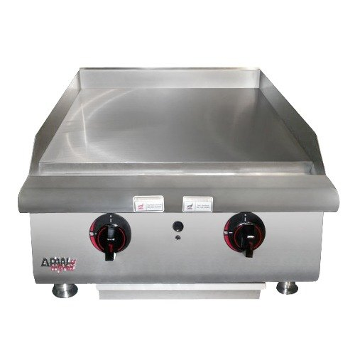 "APW Wyott HMG-2460 60"" Heavy Duty Countertop Griddle with Manual Controls - 165,000 BTU"