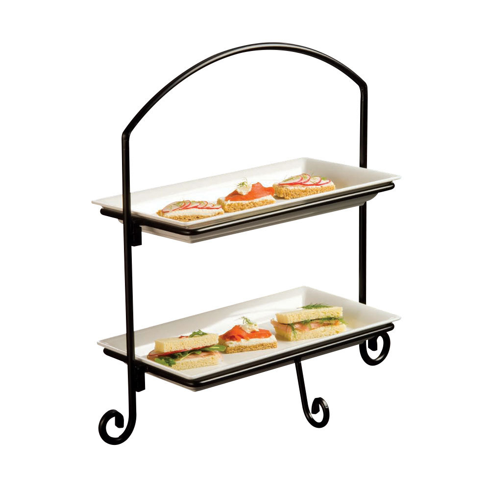 Tiered Tray Stand 1 X 3 Tier Galvanized Round Metal Stand